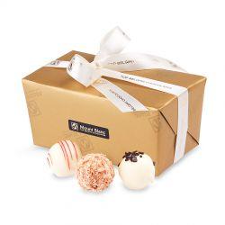 Ballotin Gold no.2 Pearls White. Czekoladki