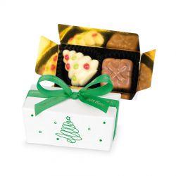 Czekoladki na Święta Mini Ballotin White Christmas Tree no. 1