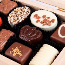 Pralinki czekoladowe Decor Light ze zdjęciem i tekstem