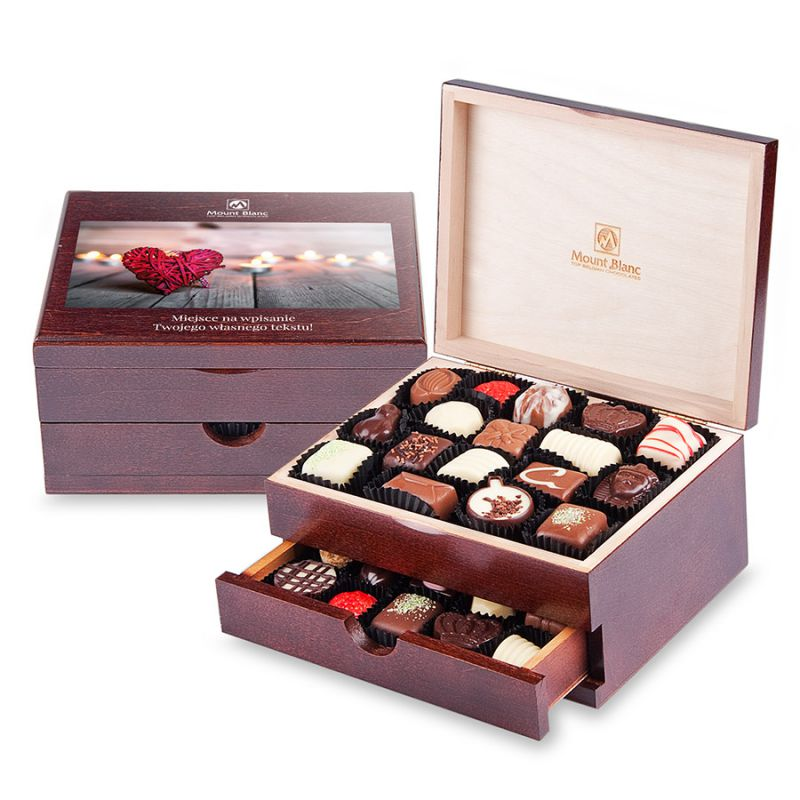 Luxury Duo ze zdjęciem i tekstem. Personalizowane słodycze