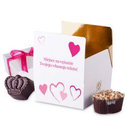 Mini Ballotin Pink no.2 czekoladki dla zakochanych z własnymi życzeniami