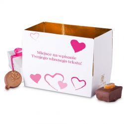 Mini Ballotin Pink no.3 czekoladki z dedykacją