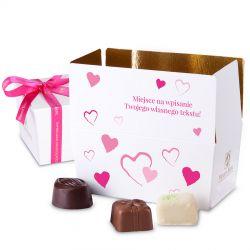 Ballotin Pink no.1 czekoladki dla zakochanych z własnymi życzeniami