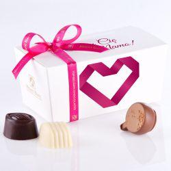 Ballotin Pink no.2 czekoladki z dedykacją
