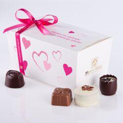 Ballotin Pink no.3 czekoladki z dedykacją