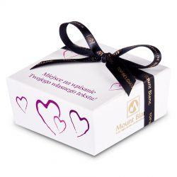 Mini Ballotin Purple no.2 dla zakochanych z własnymi życzeniami