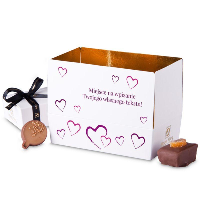 Mini Ballotin Purple no.3 dla zakochanych z własnymi życzeniami