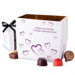 Ballotin Purple no.3 czekoladki z dedykacją dla zakochanych