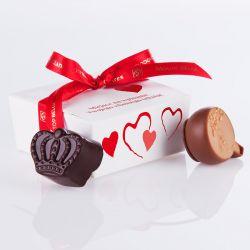Mini Ballotin Red no.2 dla zakochanych z własnymi życzeniami
