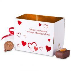 Mini Ballotin Red no.3 dla zakochanych z własnymi życzeniami