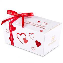 Ballotin Red no.3 czekoladki z dedykacją dla zakochanych