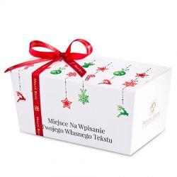 Ballotin White Christmas tree chain no.3 z życzeniami