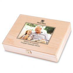Decor Duo Light dla Babci i Dziadka ze zdjęciem i własnym tekstem