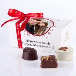 Ballotin White no.1 czekoladki ze zdjęciem i własnym tekstem