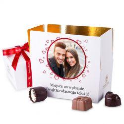 Ballotin White no.2 czekoladki ze zdjęciem i własnym tekstem