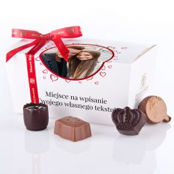 Ballotin White no.3 czekoladki ze zdjęciem i własnym tekstem