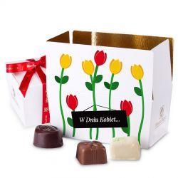 Ballotin White no.1 z czerwonymi tulipanami na Dzień Kobiet