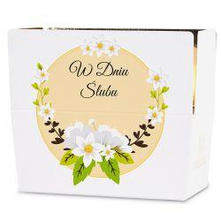 Czekoladki ślubne Ballotin White no.3 Prezent weselny