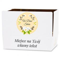 Upominek na ślub Mini Ballotin White no.3 z Twoimi życzeniami