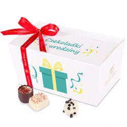 Ballotin White no.3 czekoladowy prezent na urodziny