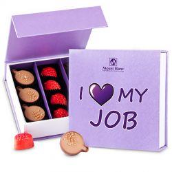 Bombonierka z logo Finesse Lavender no.2 I love my job