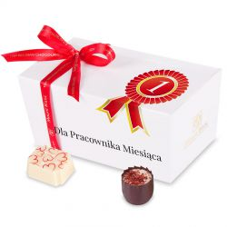 Ballotin White no.2 Dla najlepszego pracownika miesiąca, czekoladki reklamowe