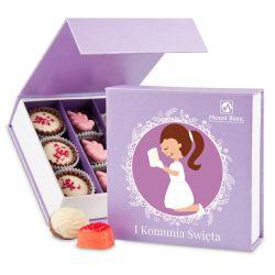 Czekoladki na komunię Finesse Lavender no.2 dla dziewczynki