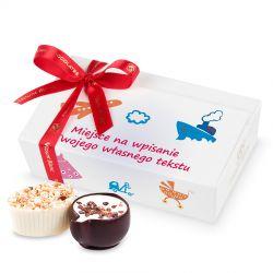 Czekoladki Mini Ballotin White no.3 z życzeniami dla dzieci
