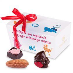 Ballotin White no.2 z życzeniami dla dzieci