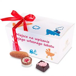 Czekoladki Ballotin White no.3 z życzeniami dla dzieci