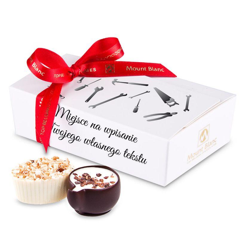 Idealny prezent dla taty Mini Ballotin White no.3 z życzeniami