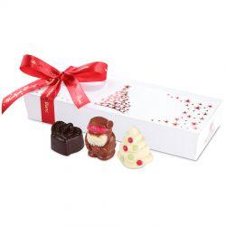 Czekoladki na Boże Narodzenie Mini Ballotin Christmas Tree Red no.5