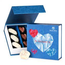 Bombonierka dla zakochanej pary Finesse Blue-White no.2