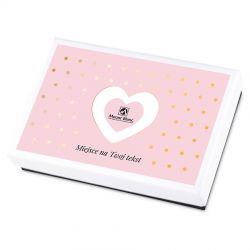Bombonierka na ślub Premium White Mini z własnymi życzeniami