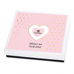 Czekoladki Premium White z Twoimi życzeniami, prezent ślubny