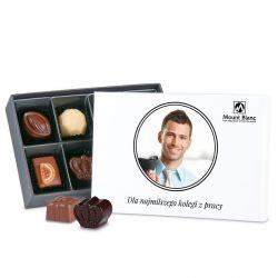Czekoladki firmowe Premium White Mini ze zdjęciem, prezent dla kolegi z pracy