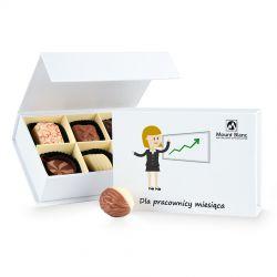 Finesse White Dla pracownicy miesiąca, czekoladki firmowe