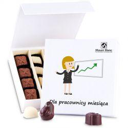 Bombonierka Finesse White no.3 Dla pracownicy miesiąca, reklamowe czekoladki