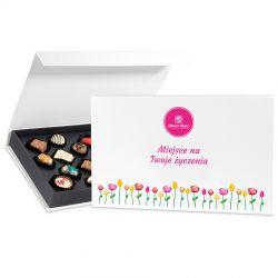 Czekoladki Exquisite Box z Twoimi życzeniami na imieniny