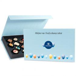 Czekoladki Blue Box z Twoimi życzeniami z okazji imienin