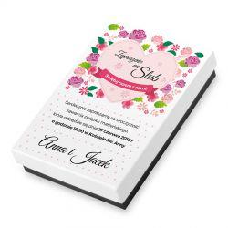 Bombonierka zaproszenie ślubne z Twoim tekstem