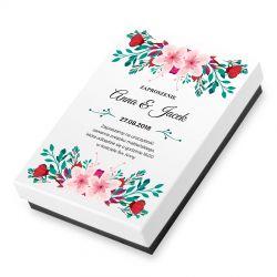 Zaproszenie na ślub z Twoim tekstem, bombonierka Premium Mini White
