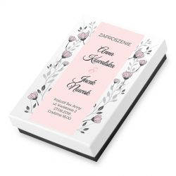 Ślubne zaproszenie, Bombonierka Premium Mini z Twoim tekstem