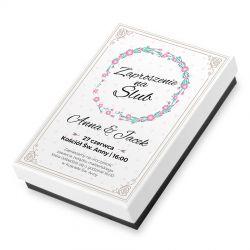 Czekoladki Premium Mini, zaproszenie ślubne z Twoim tekstem