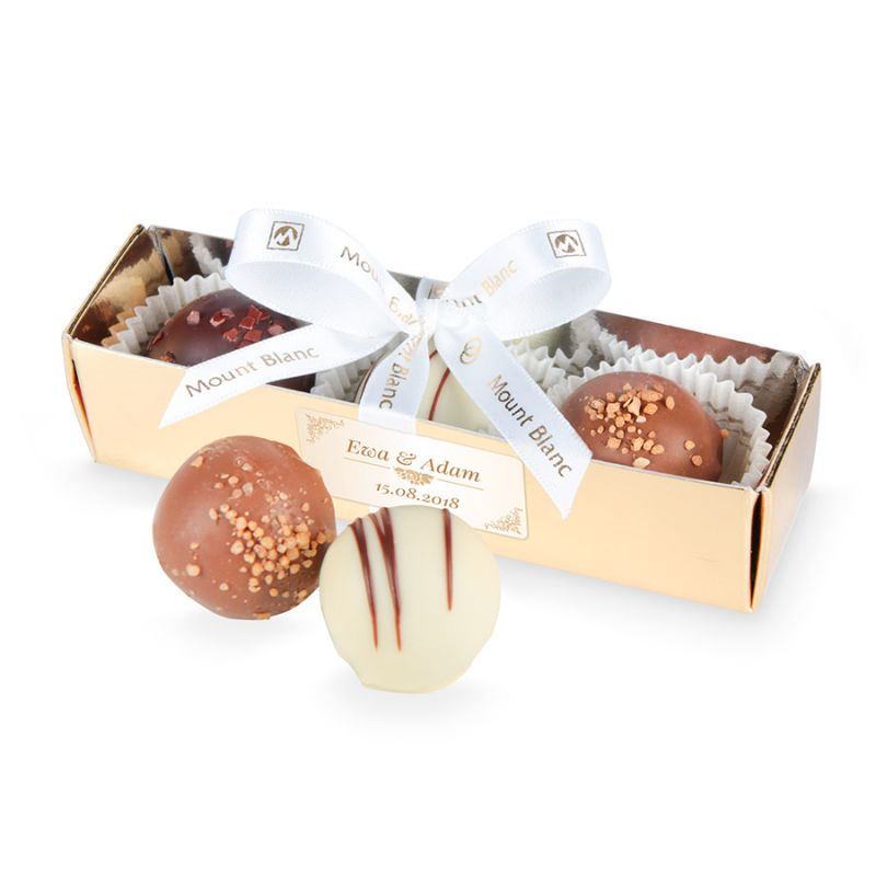 Słodycze dla gości weselnych Blister 12 cm z perłami z Twoim tekstem