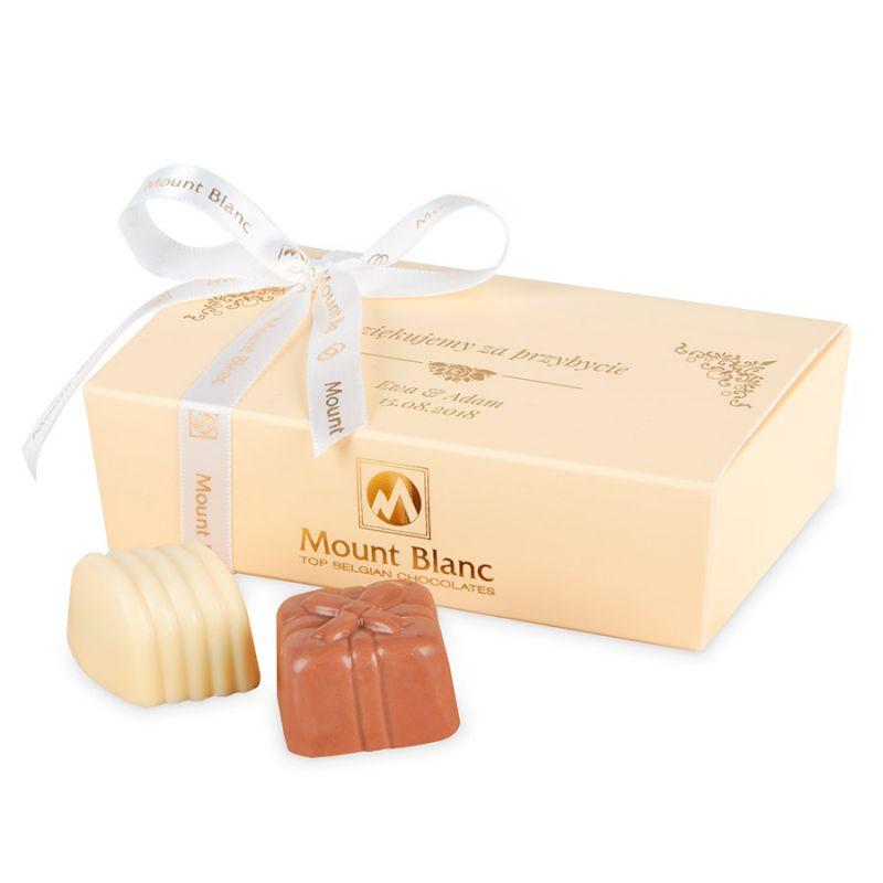 Czekoladki dla gości Mini Ballotin Cream no.3