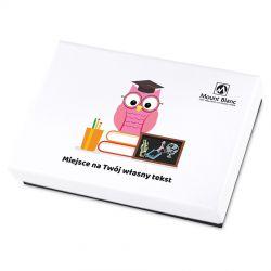 Bombonierka dla Nauczycielki Premium White Mini z Twoim tekstem
