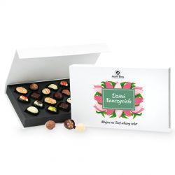 Prezent na Dzień Nauczyciela Chocolate Box White z Twoimi życzeniami