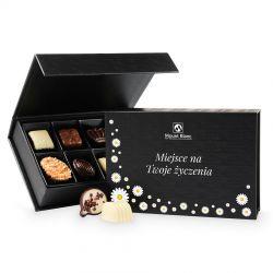 Bombonierka dla Babci Chocolate Box Black Mini z Twoimi życzeniami