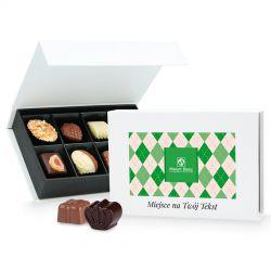 Praliny dla Dziadka Chocolate Box White Mini z Twoimi życzeniami